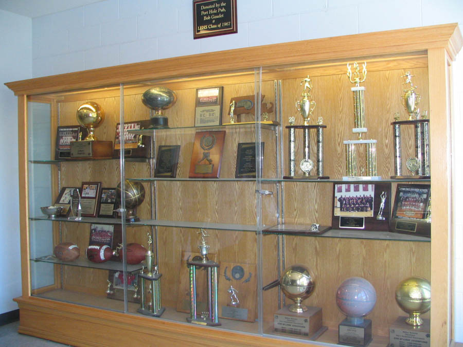 Trophy Cabinet Courtesy Of LEHS Class 67 And The Port Hole Pub